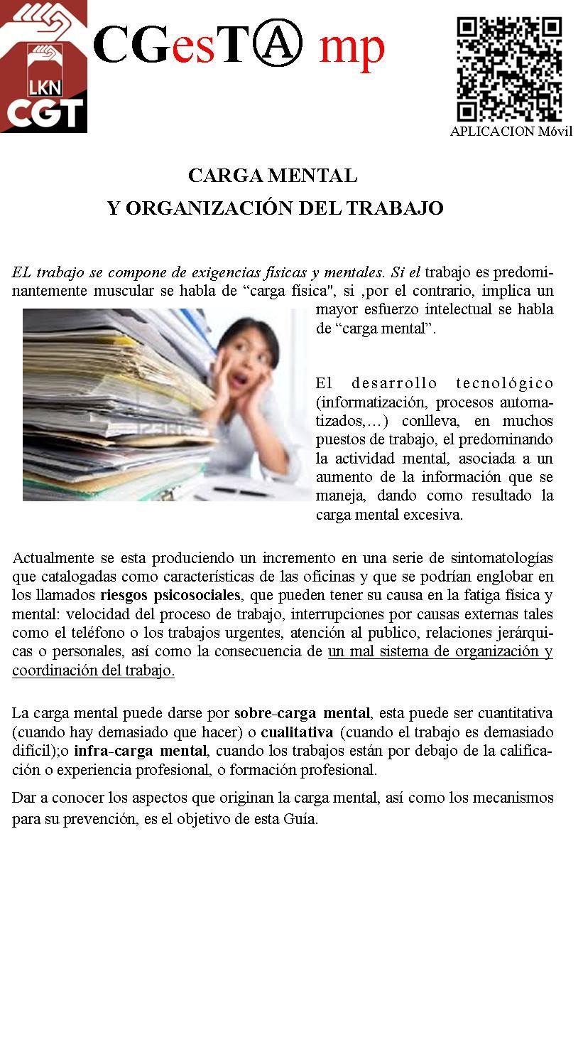 boletin salud n8 carga mental y organizacion del trabajo