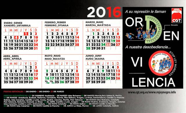 Calendario Confederal 2016 1