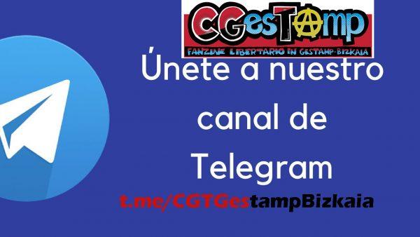 Canal de Telegram de Gestamp Bizkaia