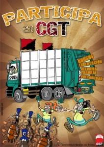 participa en CGT limpieza vial