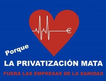 Movilización contra de la privatización de la sanidad pública