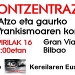 concentracion Contra el franquismo de ayer y de hoy Kontzentrazioa
