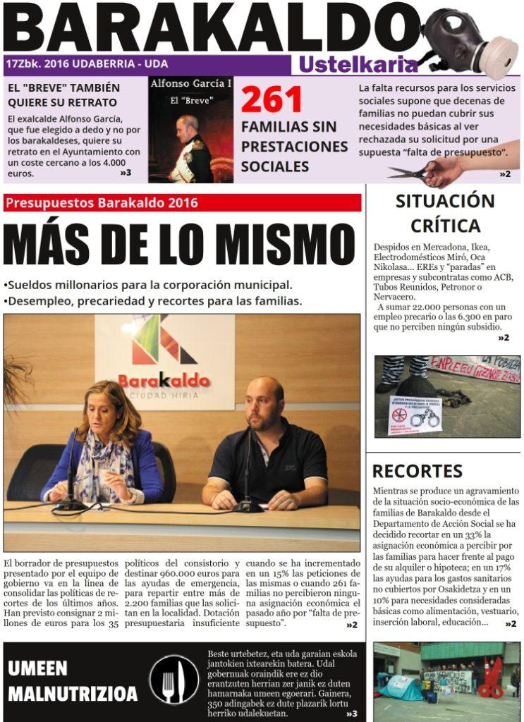 Portada. Periodico Junio 2016. Numero 17