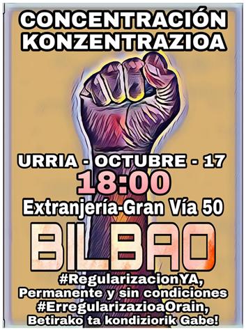 #RegularizacionYa-Bizkaia: SIN CITAS NO HAY DERECHOS