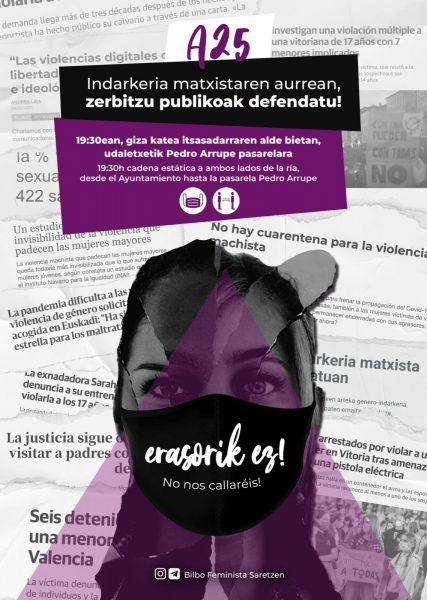 Convocatorias 25N: Día Internacional contra la violencia machista