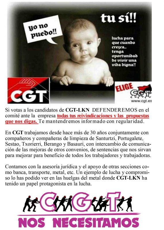 Boletín elecciones Limpieza viaria Getxo