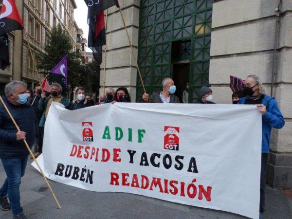 CGT-LKN ADIF contra despido , tras solicitar conciliación y denunciar acoso laboral (Video)