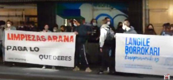 Vídeo de la Concentración en Bilbao contra la represión y el abuso patronal
