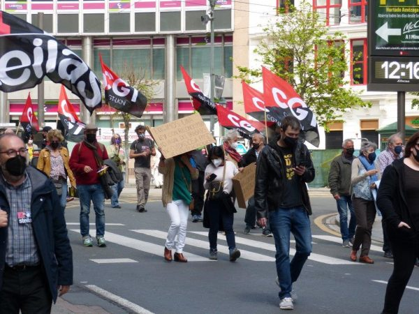 Fotos y Vídeo,Manifestación de CGT-LKN, ESK y STEILAS del 1 de mayo
