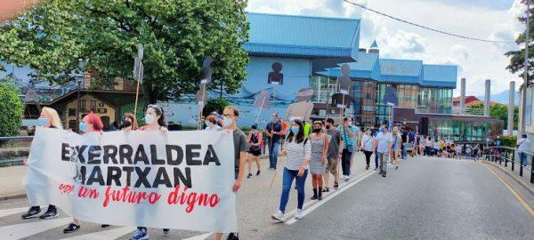 Marcha por los pueblos de la Margen Izquierda contra la precariedad, los recortes y por un futuro digno para la comarca