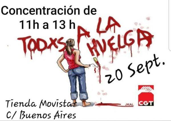 ATENTO HUELGA DE 24 HORAS EL DÍA 20