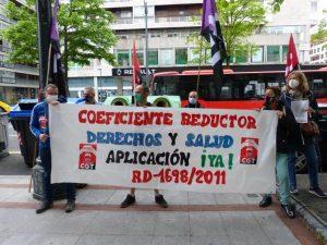 Concentración por la aplicación de los coeficientes reductores en la edad de jubilación para trabajos de naturaleza penosa, tóxica, peligrosa,..(Vídeo)