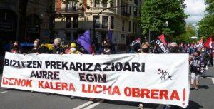 Manifestación de CGT-LKN, ESK y STEILAS del 1 de mayo de 2021 en Bilbao (Fotos y Vídeo)