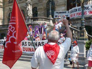 El Movimiento de Pensionistas por la justicia fiscal